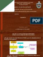 Derecho Procesal Penal  Nicaragua. ActuaciónMpublico