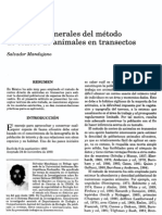 . Conceptos generales del método de conteo de animales en transectos