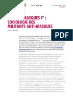 Une première étude tente de définir le mouvement des anti-masques