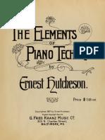 Ernest Hutcheson - Elements of piano technique (1907)