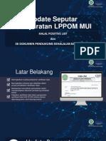 PPT Update Persyaratan LPPOM MUI-MATERI