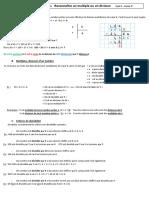 Fiche A11 - Reconnaître un multiple ou un diviseur