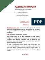 LA CLASSIFICATION GTR 2