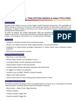 Real Time Options Greeks Feed Brochure