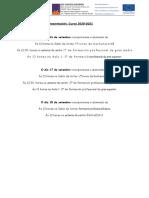 Datas de presentación 2020_2021