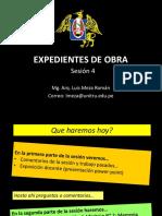SESION 4 EXPEDIENTES DE OBRA 2020-1