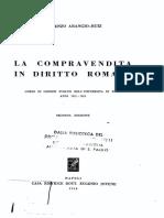 Vincenzo Arangio-Ruiz - La Compravendita in Diritto Romano-Jovene (1954).pdf
