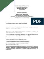 Taller de aplicación  Historia Natural de la enfermedad PyP