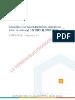 COFRAC Exigences pour l'accréditation des laboratoires - LAB-REF-02