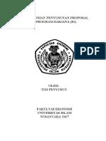 buku pedoman penyusunan proposal