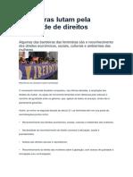 Brasileiras lutam pela igualdade de direitos