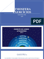 ATMOSFERA - EXERCÍCIOS - 6º ANO