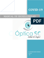 MANUAL DE BIOSEGURIDAD OPTICA SC