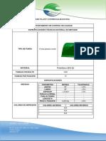 Ficha técnica  23x28 1,3M verde