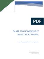 Santé psychologique et Bien-être au travail Master 1 cours en ligne