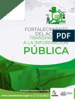 CARTILLA FORTALECIMIENTO DEL ACCESO Y TRANSPARENCIA DE LA INFORMACIÓN PÚBLICA