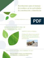 Resoluciones residuos en la actividad de construcion y demolicion