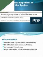Critical Appraisal Bladder Trauma