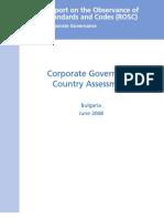 Corporate Governance ROSC Assessment
