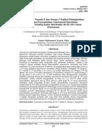 Kombinasi Vitamin E Dan Omega-3 Topikal Meningkatkan Derajat Penyembuhan Anastomosis Intestinum Kajian Terhadap Kadar Interleukin-10 (IL-10) Cairan Peritoneum