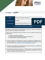 Guía Proyecto de Práctica II- Investigación Organizacional