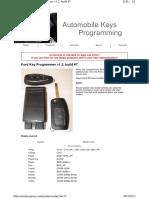 FORD KEY Programming