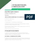 EQUIPOS Y FUNDAMENTOS DEL DISEÑO DE CRISTALIZACIÓN