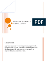 6- Construction Management - Network Schedule Calculations- New