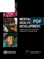 WHO 2010 Mental Health and Development Report