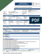 INFORME TECNICO GD623A-1 - INSPECCION Y EVALUACION VISUAL DE EQUIPO. (1)