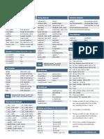 Python Cheat Sheet v1