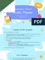 Elementary School Weekly Planner by Slidesgo.pptx
