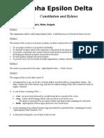 AED Constitution