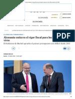 Alemania Entierra El Rigor Fiscal Para Luchar Contra El Virus _ Economía _ EL PAÍS