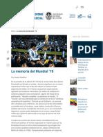 La memoria del Mundial '78 - Facultad de Periodismo y Comunicación - UNLP.pdf
