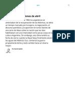 Malvinas_ las ilusiones de abril - Télam - Agencia Nacional de Noticias.pdf