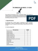 MICROSCOPIO BINOCULAR - ECONOM. - MOD. LT-C204 - LABOR TECH.pdf
