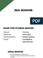 Chapter 11 Animal Behavior