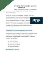 ANALISIS DE EF Razones financieras Rempresa REAL