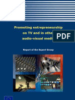 Promoting entrepreneurship on TV and in other audio-visual media