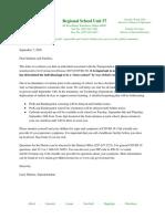 Parent September 6th Notification Letter to School Communities
