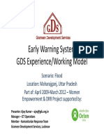Early Warning System GDS Experience/Working Model