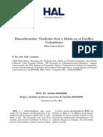 etnoeducacion, tradicion oral en el pacifico colombiano