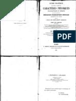 Caractères physiques organoleptiques et chimiques