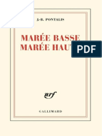 J.-B. Pontalis - Marée basse marée haute-Gallimard (2013)