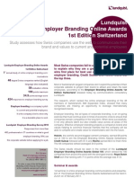 Lundquist Employer Branding Online Awards Switzerland Executive Summary