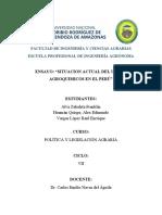 ENSAYO(SITUACION  ACTUAL DEL USO DE AGROQUIMICOS EN EL PERÚ)