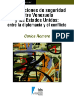 Carlos Romero Mendez. Las relaciones de seguridad entre venezuela y estados unidos