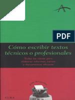 Cómo Escrbir Textos Tecnicos o Profesionales