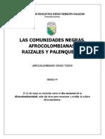 AFROCOLOMBIANOS SOMOS TODOS - GRADO 4